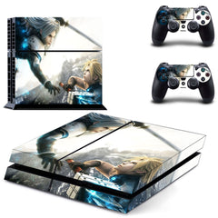 PS4 Final fantasy Vinyl Skin Sticker For Console and 2 Controller skin