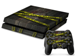 PS4 Crime Scene Do Not Cross  for PS4 Console Skin Sticker for Controller