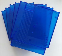 Transparency Blue color 72 Pins Game Cartridge Replacement Plastic Shell For NES