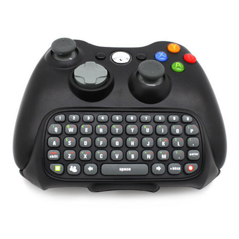 Black Wireless Messenger Chatpad Keyboard for Xbox 360 Controller