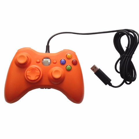 Orange USB Handle Cable Controller for Microsoft Xbox 360 Console