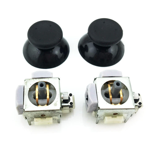 2pcs Analog Stick Potentiometers + 2x Black thumbsticks for Microsoft Xbox 360 Controller