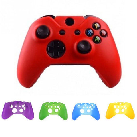 1 PCS Soft Silicone Rubber Protective Skin Case Cover For Microsoft Xbox one Controller 7 COLORS