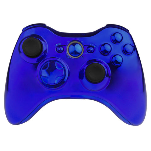 Blue Full Controller Shell Case Housing for Microsoft Xbox 360 Wireless Controller
