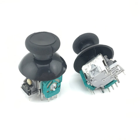 2 pcs 3D Analog Joystick Stick Sensor Module Potentiometers + 2 x Black thumbsticks For Microsoft xbox one wireless controller