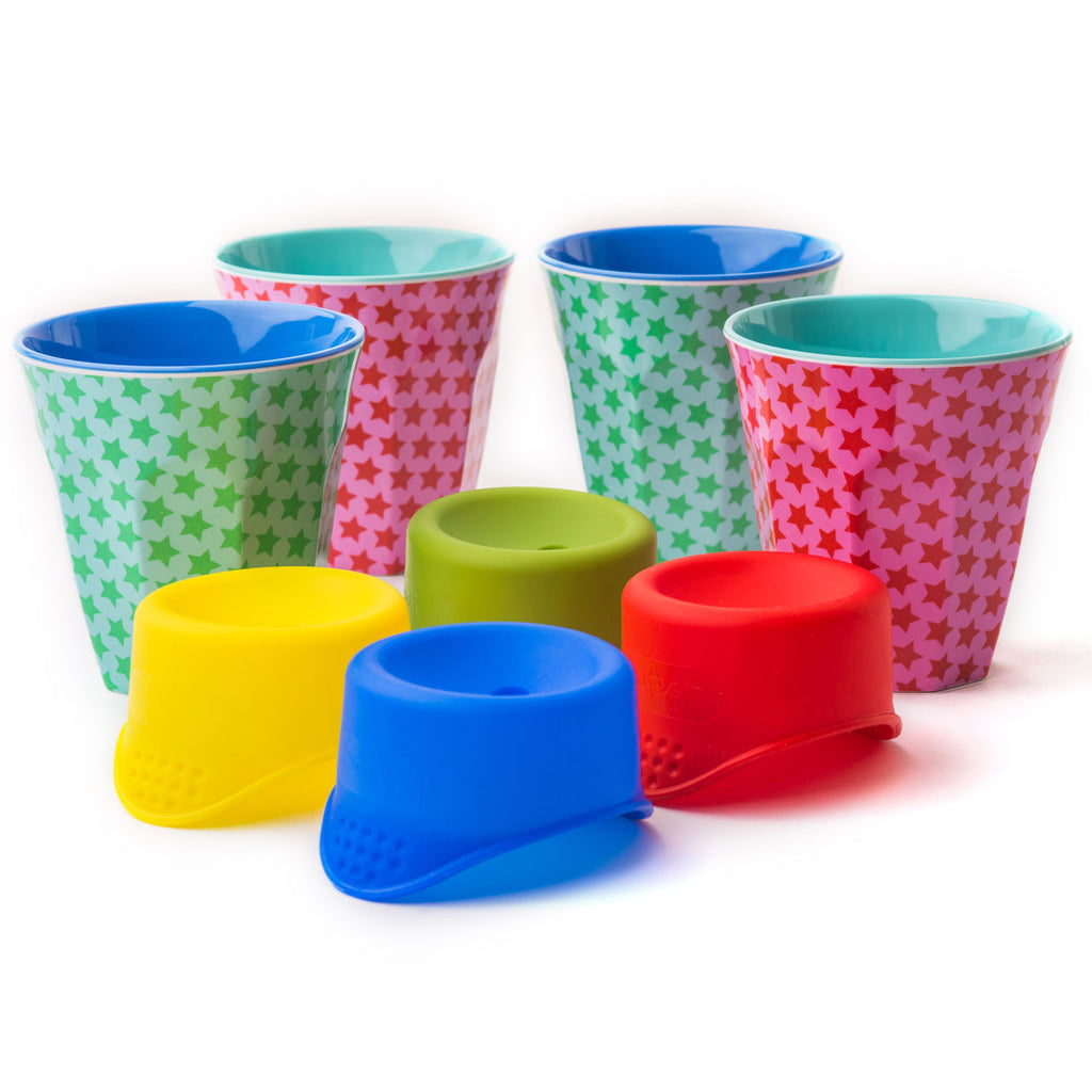 Picnic Pack - 4 SafeSips & 4 Patterned Rice Cups