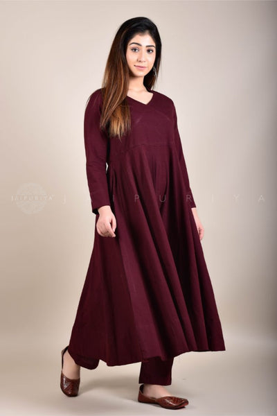 Basic Black Kalidar Kurta