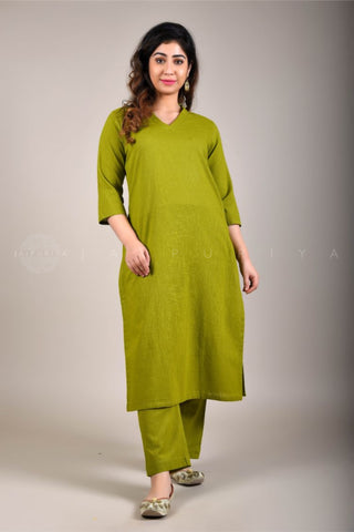 Basic Yellow Kalidar Kurta