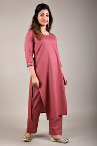 Rose Mirror Work Kurta