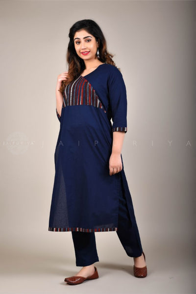 Basic Dusty Teal Sleeveless Kurta