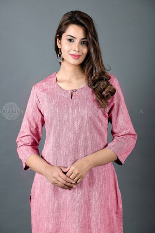 Dusty Pink Kurta and Pant Suit