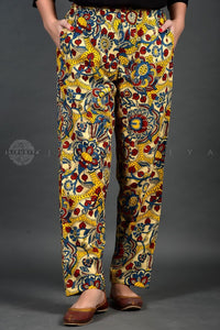 Yellow Kalamkari Pants