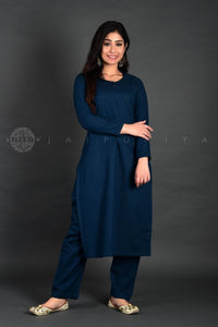 Peacock Full Sleeves Kurta Pant Suit