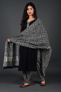 Black Jaal Kurta Salwar Set with Dupatta