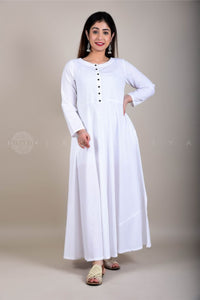 White Maxi Dress with Sleeves