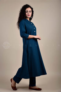 Peacock Collar Kurta