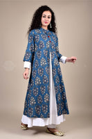 Midnight Blue Rayon Kurta and Pant Suit