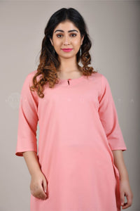 Basic Peach Kurta