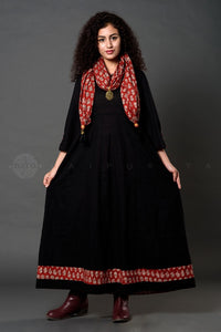 Black Madder Scarf Dress