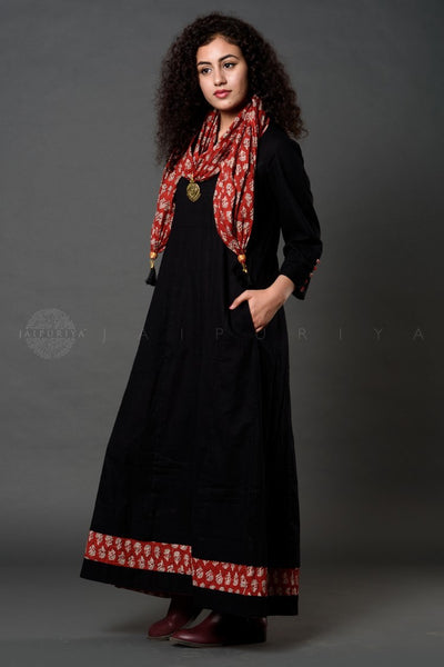 Black Madder Buti Scarf Dress
