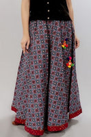 Blue Ajrakh Skirt