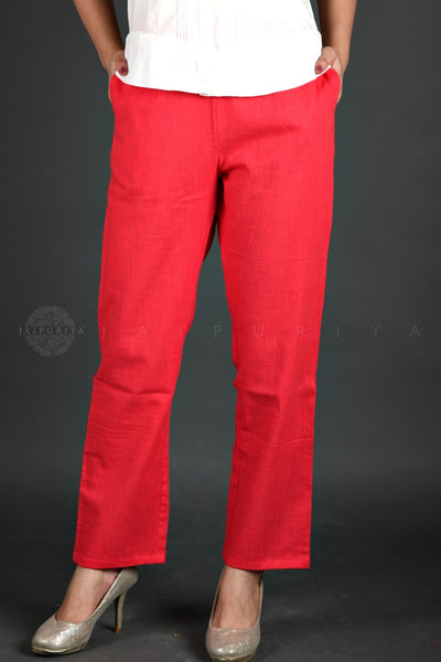 Basic Coral Cotton Pants