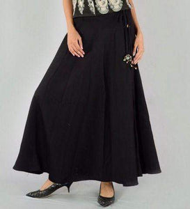 Plain Black Skirt - Jaipuriya