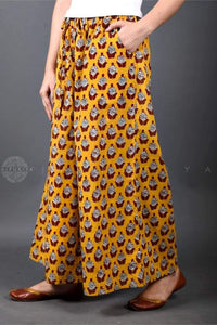 Sunflower Yellow Pocket Palazzo - Jaipuriya