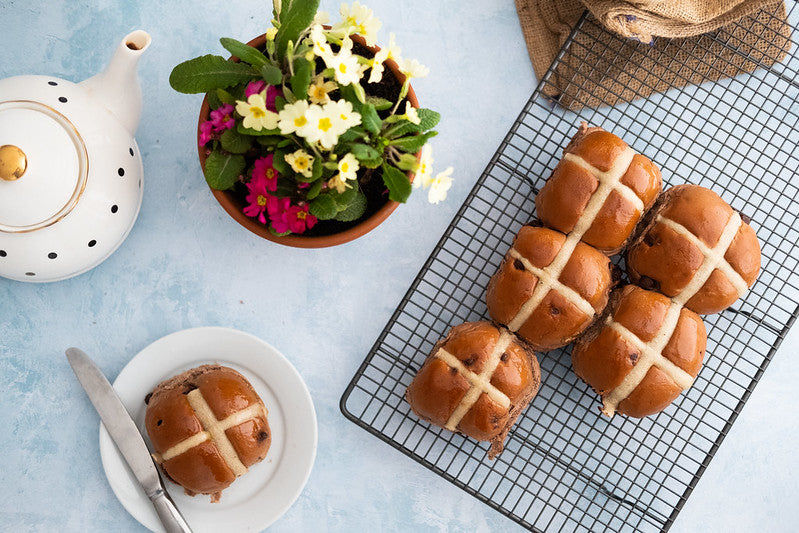 Chocolate Hot Cross Buns x6