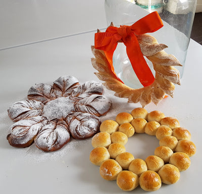 Kids Christmas Bread Wreath Making Ages 12 - 15