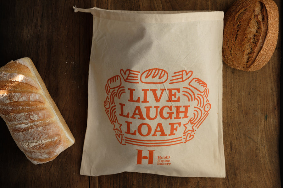"""Live, Laugh, Loaf"" Cotton Bread Bag"