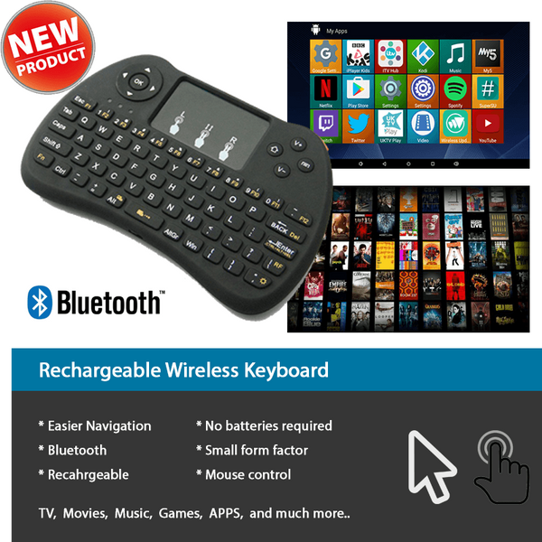 Mini Wireless Qwerty Keyboard With Touch Pad