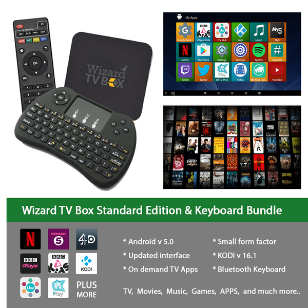WIZARD TV BOX & KEYBOARD BUNDLE