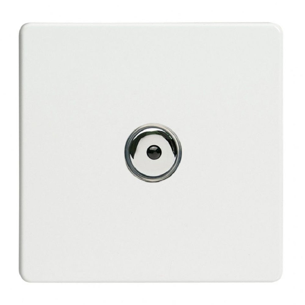 Varilight IJDQI101S | Premium White Screwless Dimmer Switch
