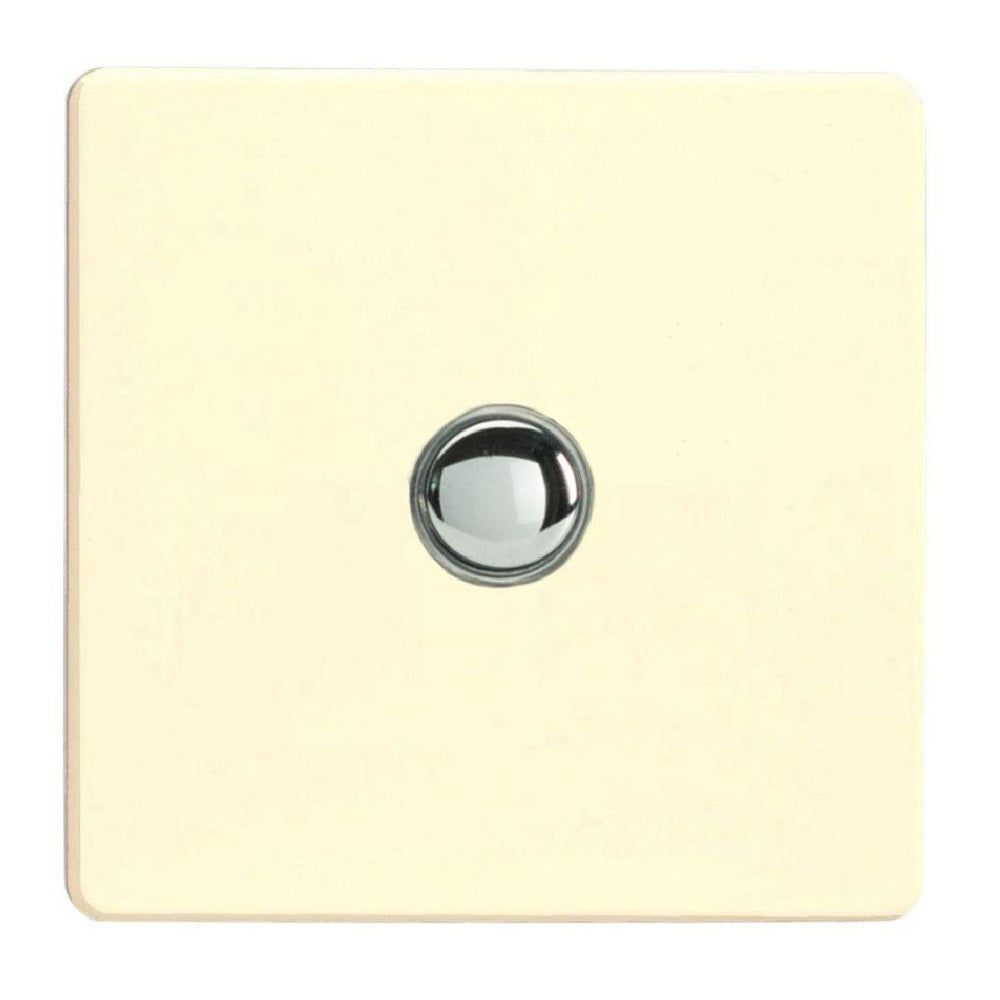 Varilight IJDWS001S | White Chocolate Screwless Dimmer Switch