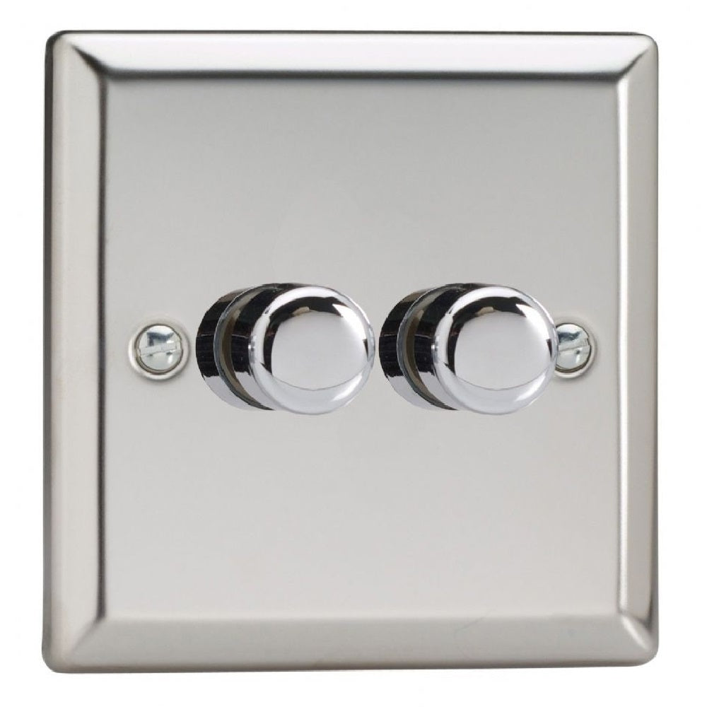 Varilight JCP252 | Mirror Chrome Classic Dimmer Switch