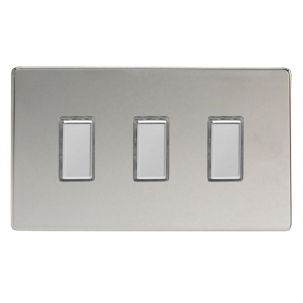 Varilight JDCES003S | Polished Chrome Screwless Dimmer Switch