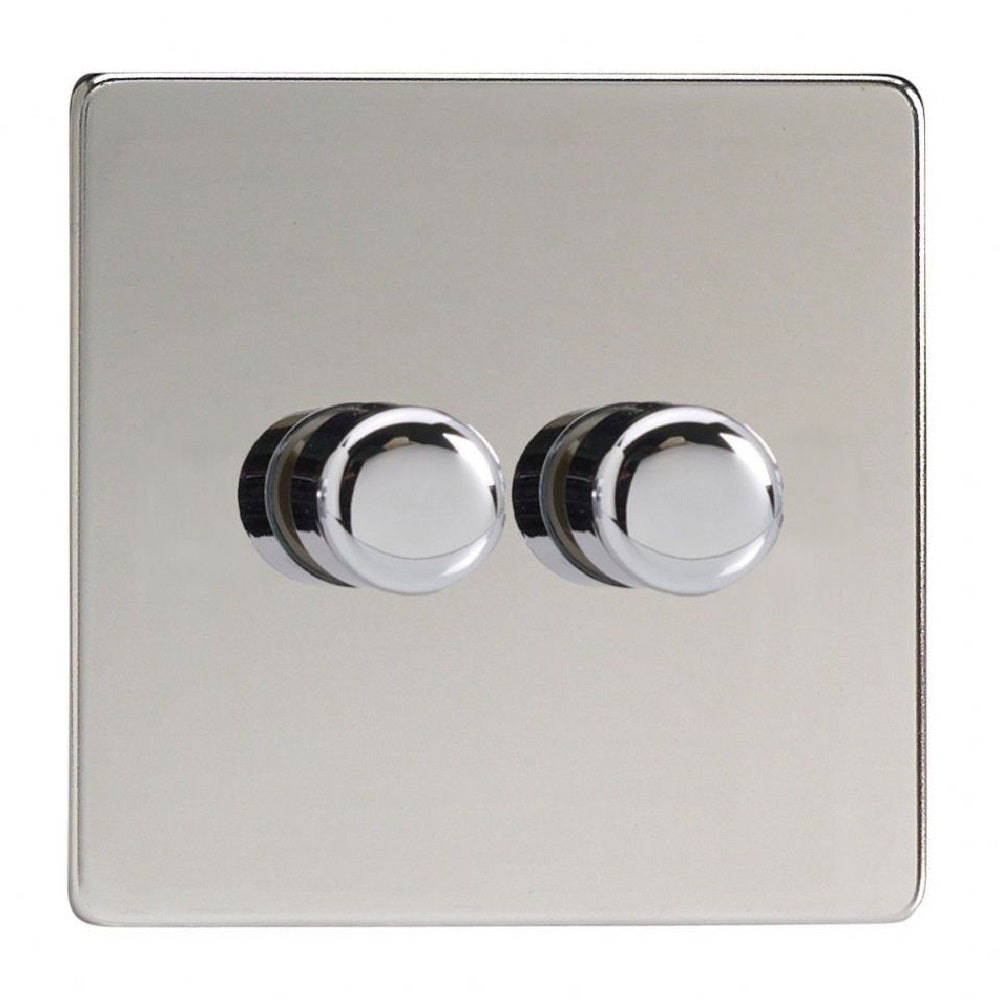 Varilight JDCP252S | Polished Chrome Screwless Dimmer Switch