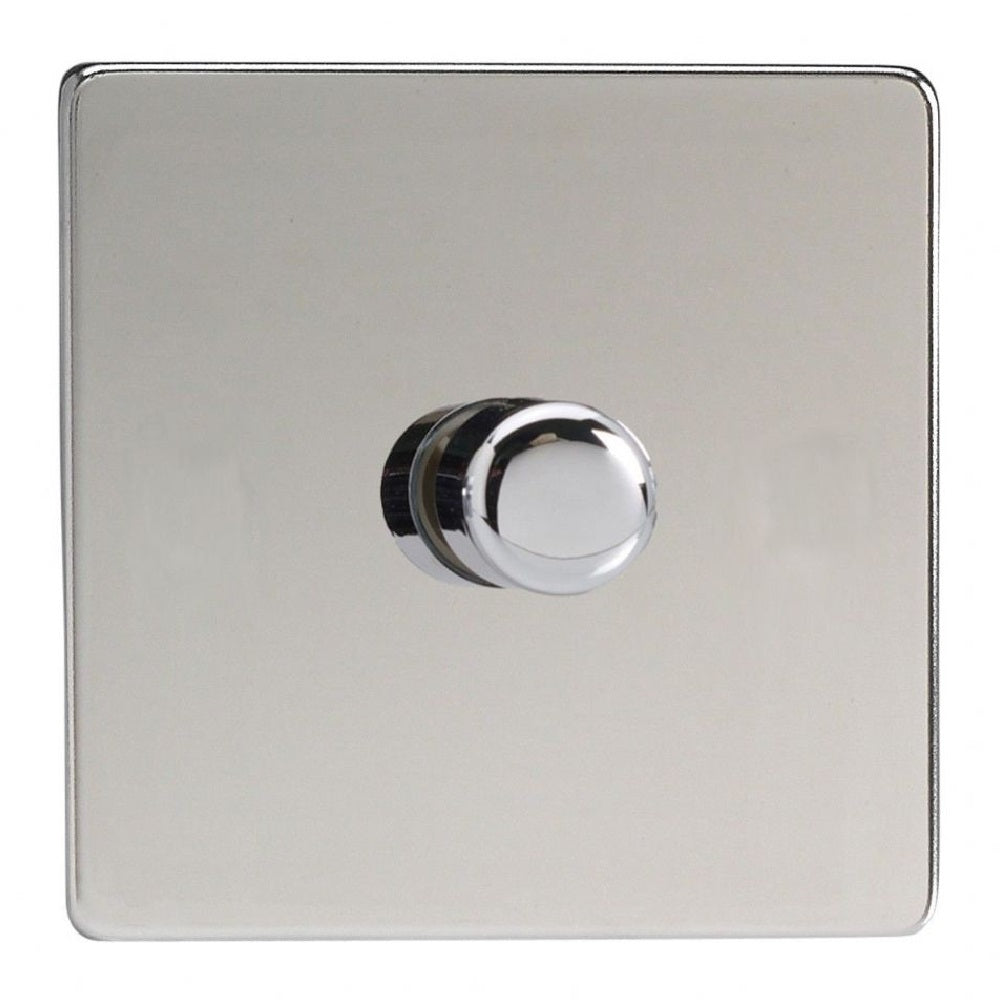 Varilight JDCP401S | Polished Chrome Screwless Dimmer Switch