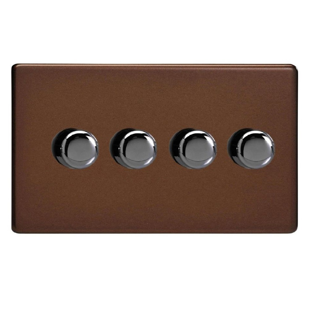 Varilight JDMDP254S | Mocha Screwless Dimmer Switch
