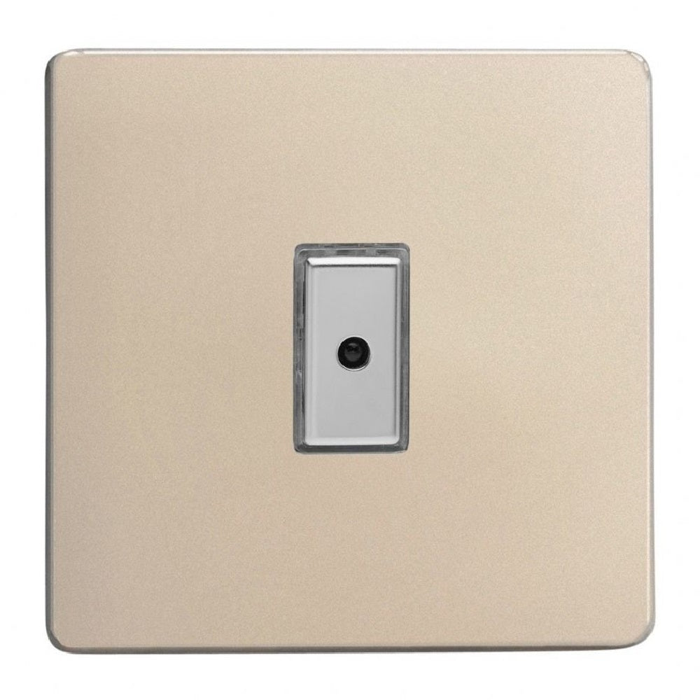 Varilight JDNE101S | Satin Chrome Screwless Dimmer Switch