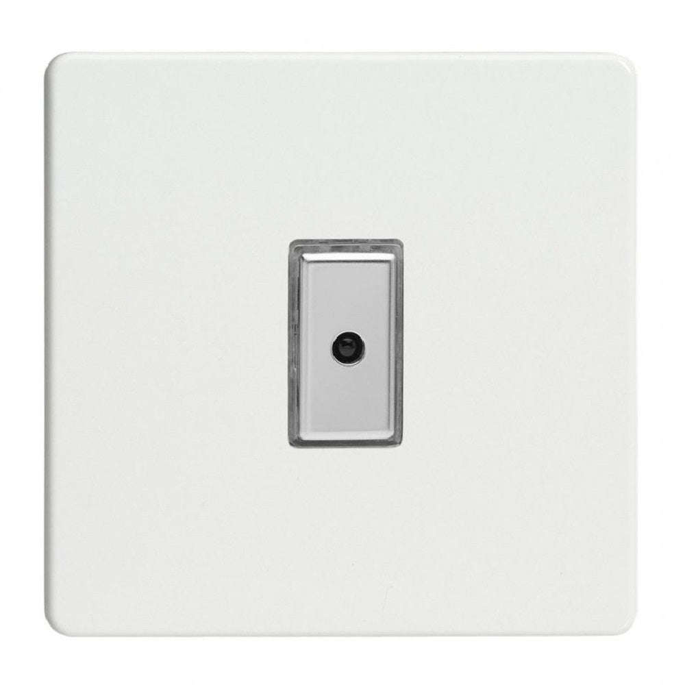 Varilight JDQE101S | Premium White Screwless Dimmer Switch