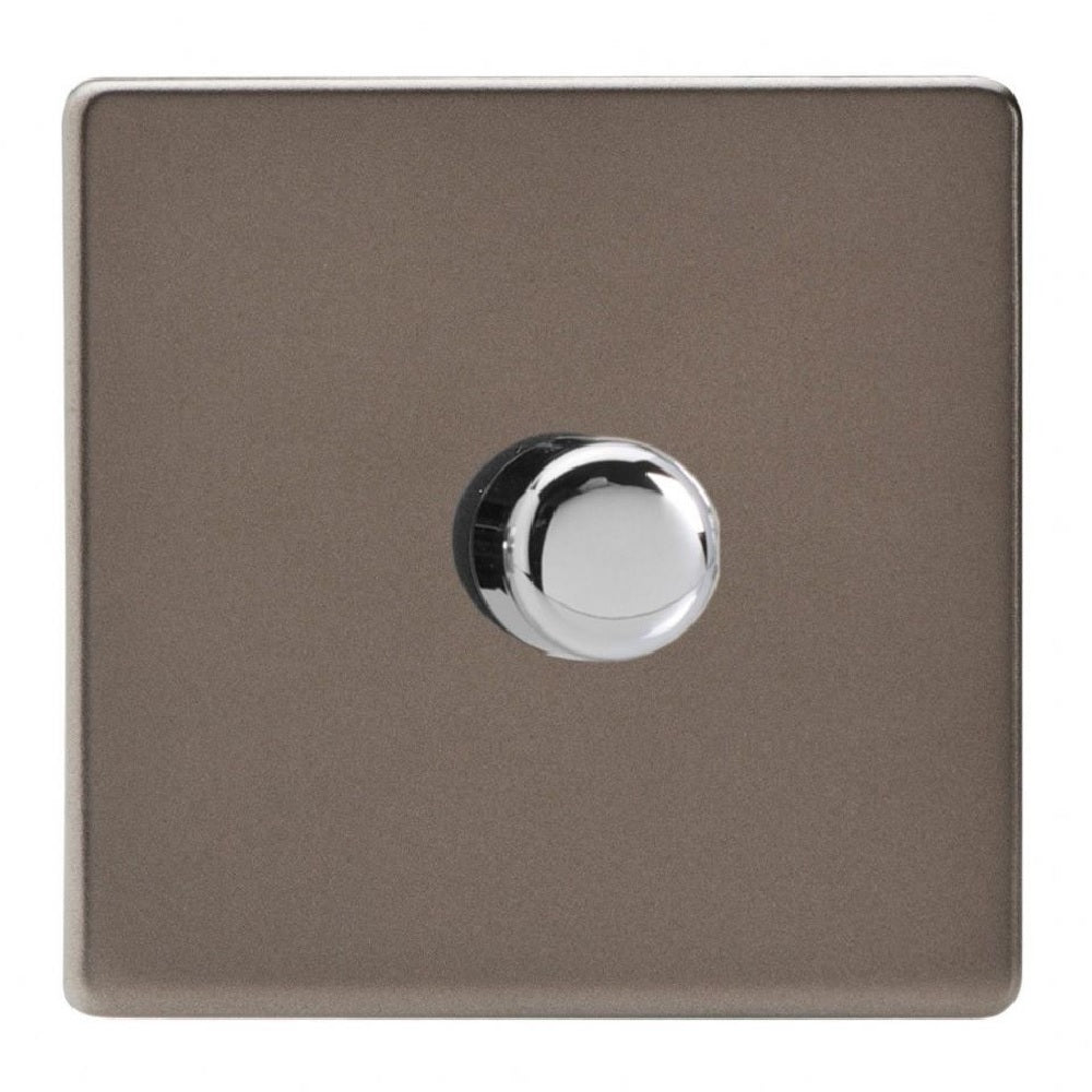 Varilight JDRP401S | Pewter Screwless Dimmer Switch