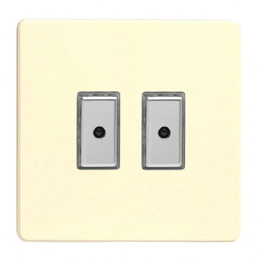 Varilight JDWE102S | White Chocolate Screwless Dimmer Switch