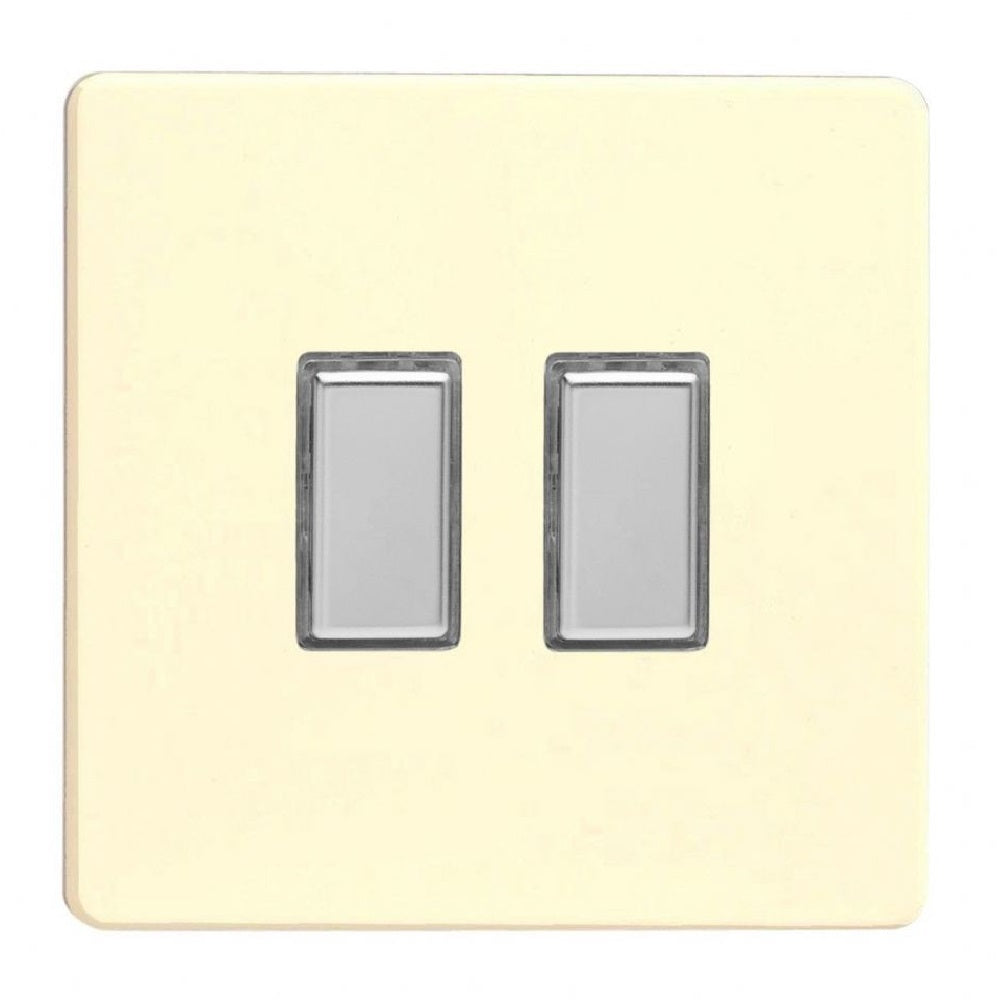 Varilight JDWES002S | White Chocolate Screwless Dimmer Switch