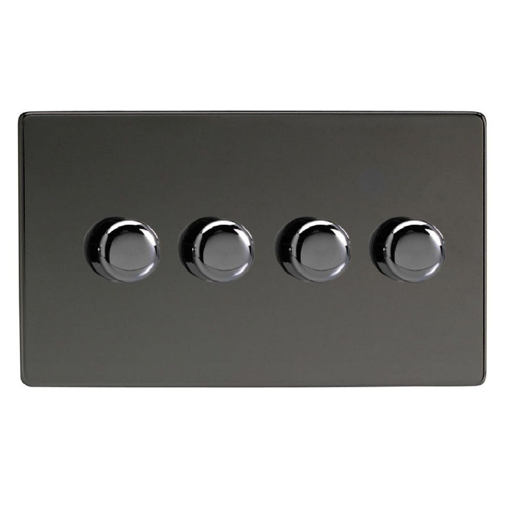 Varilight JDiDP254S | Iridium Black Screwless Dimmer Switch