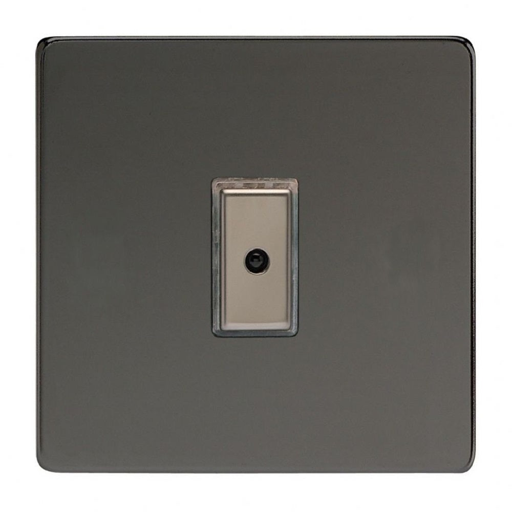 Varilight JDiE101S | Iridium Black Screwless Dimmer Switch