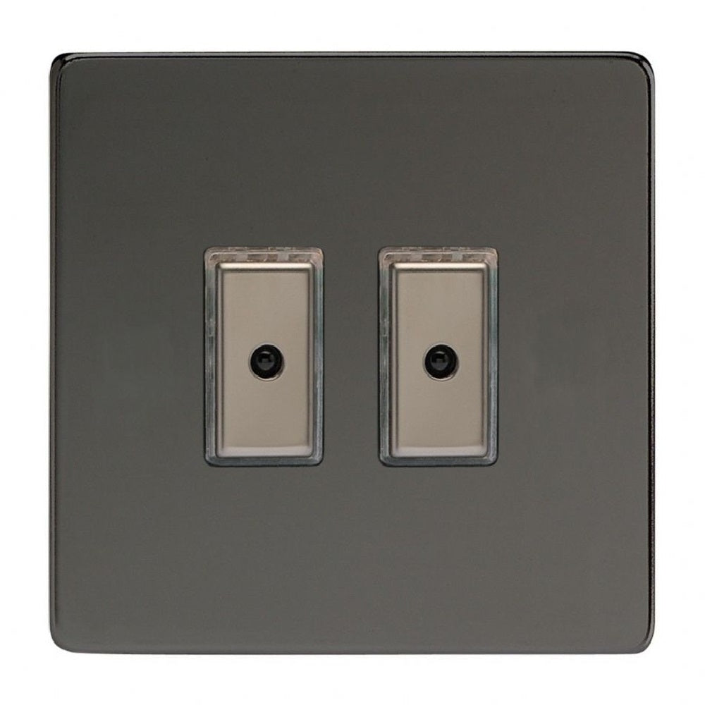 Varilight JDiE102S | Iridium Black Screwless Dimmer Switch