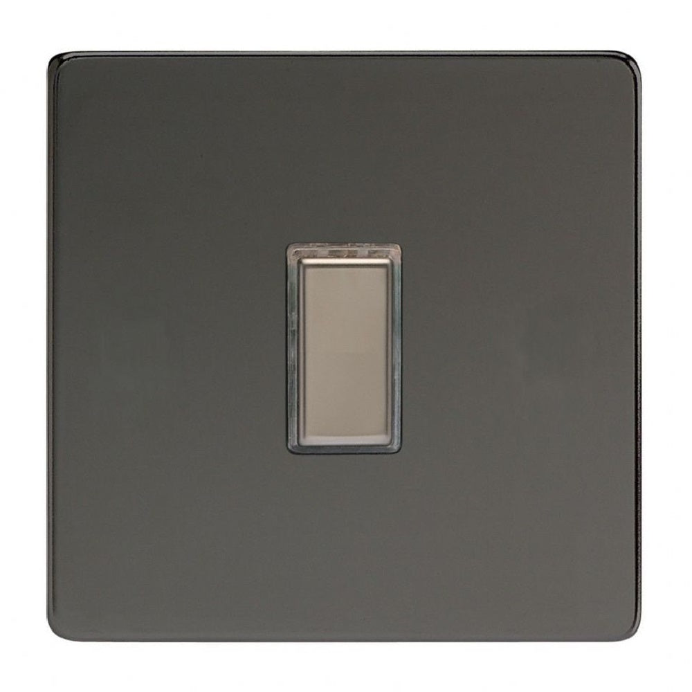 Varilight JDiES001S | Iridium Black Screwless Dimmer Switch