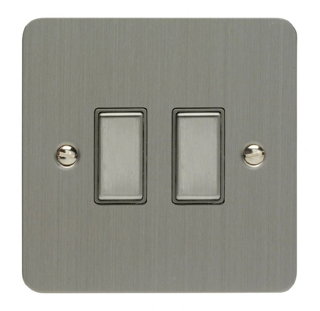 Varilight JFSES002 | Brushed Steel Ultraflat Dimmer Switch